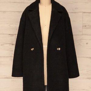 Wool coat (alpaca, lama wool, silk blend)